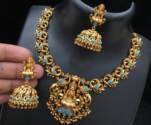 Lakshmi design set - turquoise color