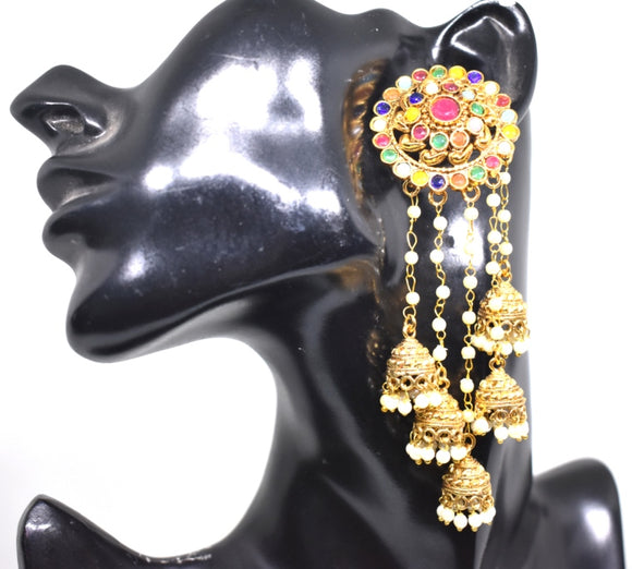 Jhumka Cluster with a big stud