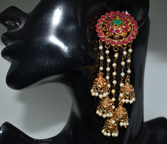Jhumka cluster with big stud
