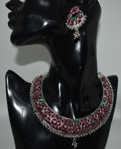 German Silver Kundan Choker set