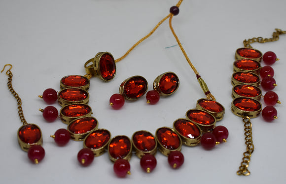 Kid's Set with artificial Kundan