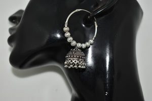 Oxidized Jhumka earring
