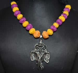 Ganesha pendant with thread beads set