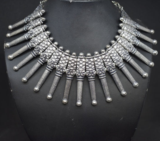 Oxidized German silver tribal set