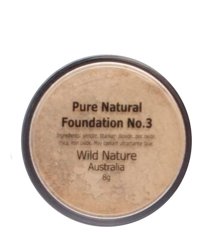 Wild Nature WARM BEIGE Powder Foundation No. 3 (8g)