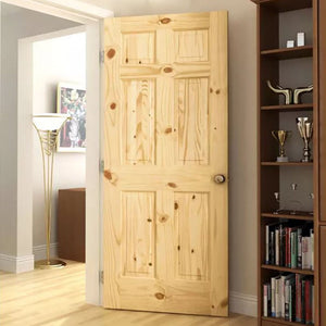 Make a statement without saying a word - this 6 Panel Knotty Pine Colonial door says it all