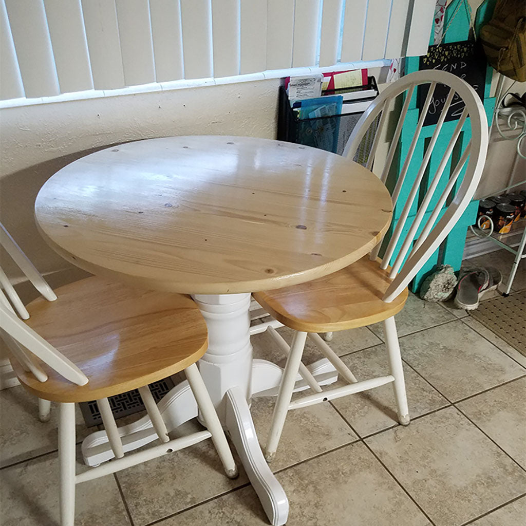 Customer Share - Pine Round Finished Table