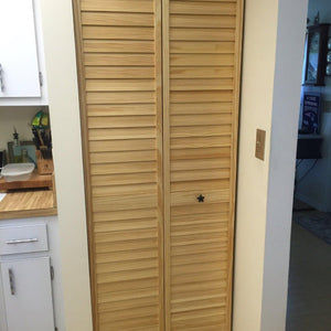 Customer Share - Plantation Clear Louver Louver Bi-fold Door