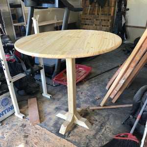 Customer Share - Pine Round Table