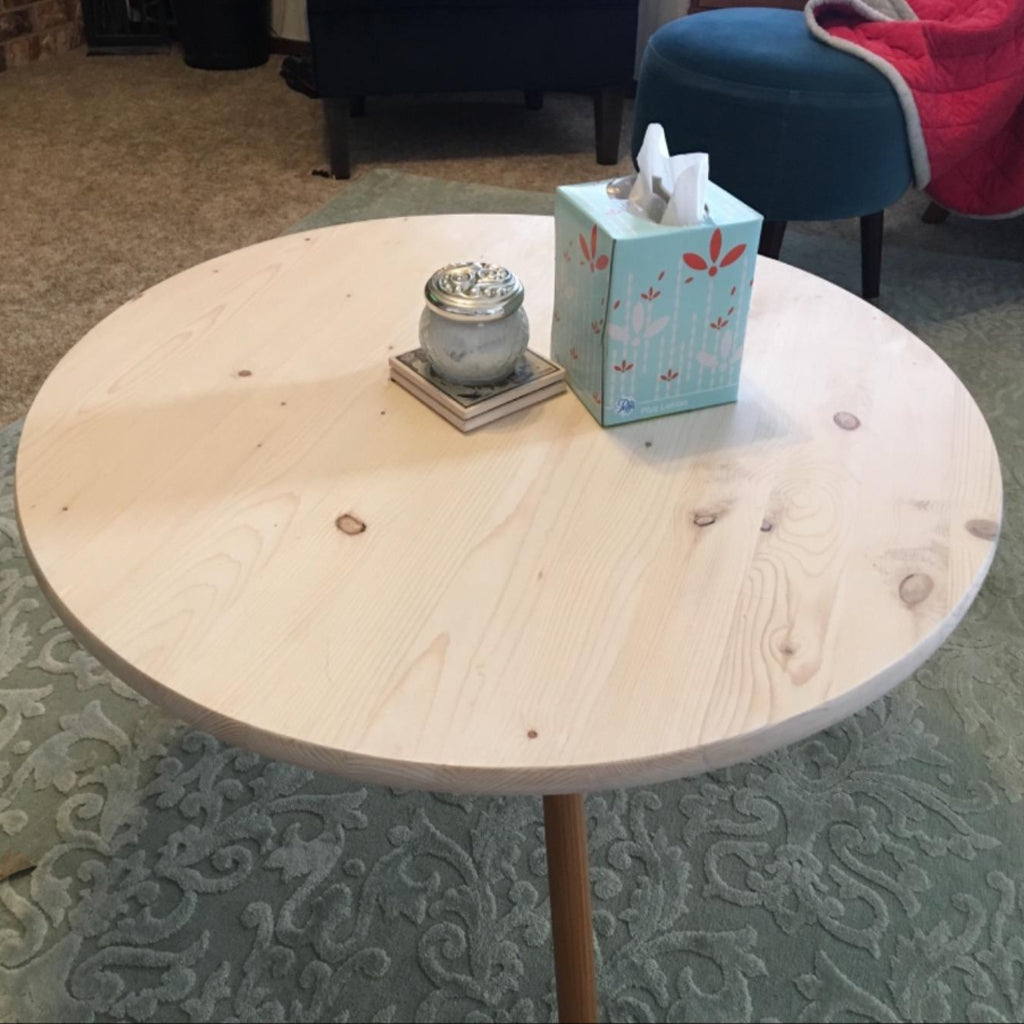 Customer Share - Pine Round Coffee Table