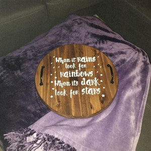Customer Share - Pine Round Serving Tray