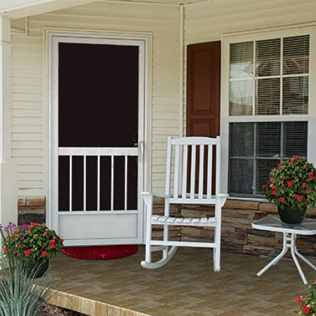 A screen door with the strength of a storm door
