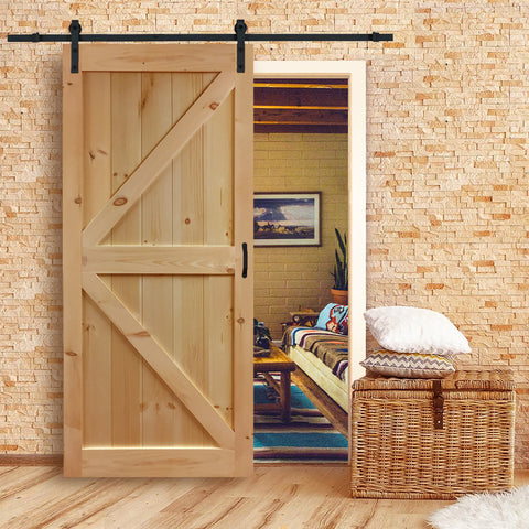 Knotty Pine K Bar Barn Door