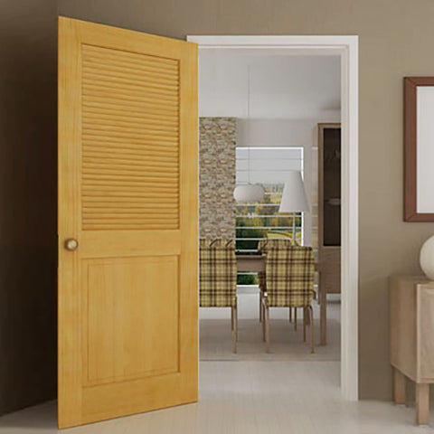 Louver Panel Solid Pine Door