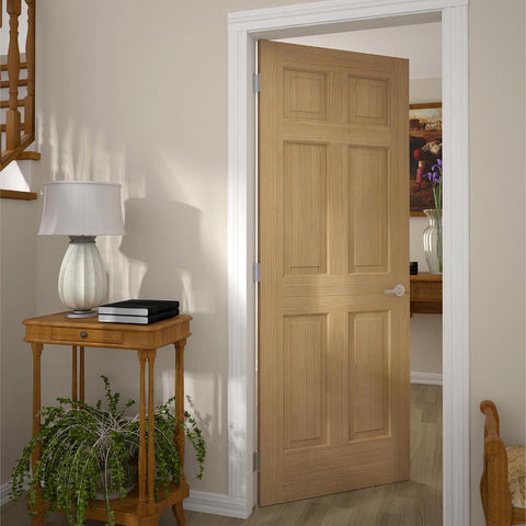 6 panel colonial interior door