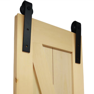 K-Rail Solid Knotty Pine Unfinished Barn Door Assembled Slab