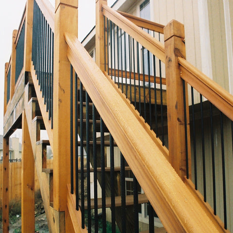 Cedar Deck Railing Kit By Vista In Amp Out Home Products