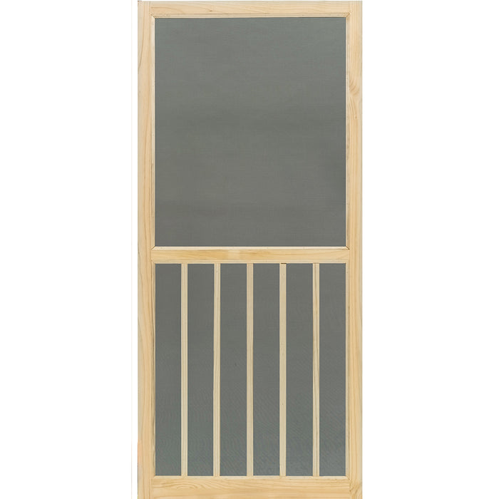 Screen Door Wood 5-Bar Stainable