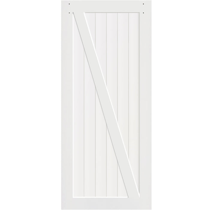 Z-Rail White Solid Pine Core  Interior Barn Door Slab