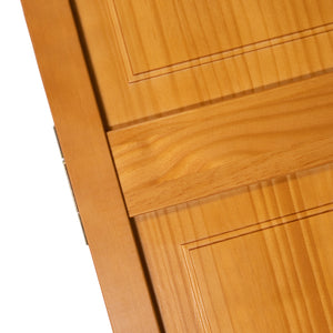 Traditional 6 Panel Golden Oak   Solid Core Wood Bi-fold Door