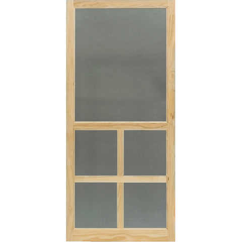 Screen Door Wood Victoria Stainable