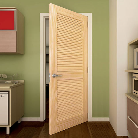 Louver Louver Traditional Interior Door Slab Kimberly Bay® Unfinished Wood  Solid Core