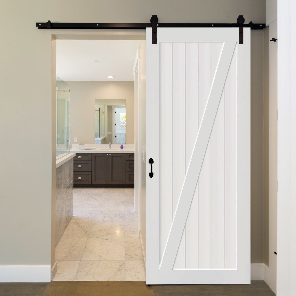 Barn Door White 83 5 In X 36 In In Out Home Products