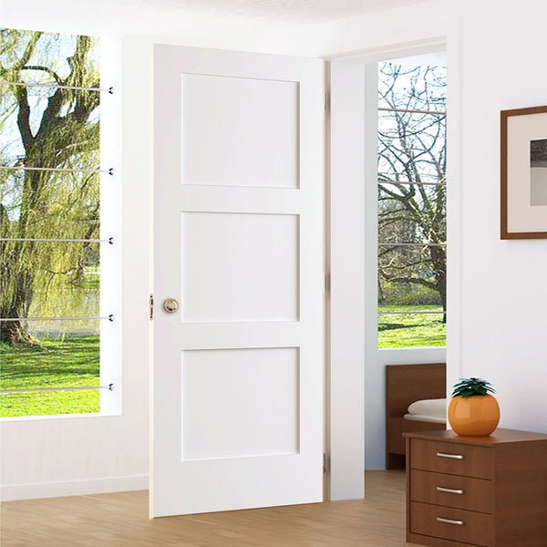 Kimberly Bay 28 In X 80 In White 1 Panel Shaker Solid: 3-Panel Door, Kimberly Bay® Interior Slab Shaker White