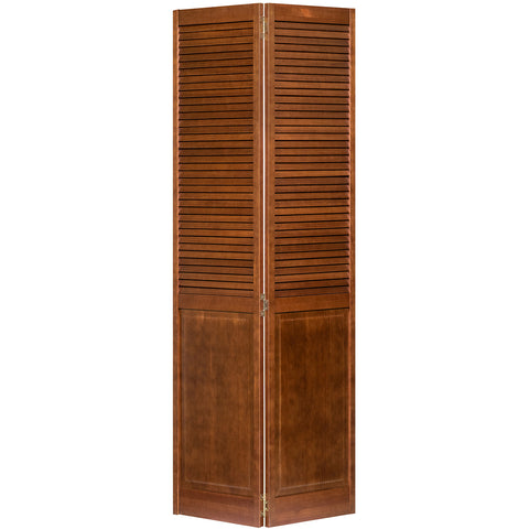Stained (Espresso) Closet Door, Bi-fold, Kimberly Bay® Louver-Panel