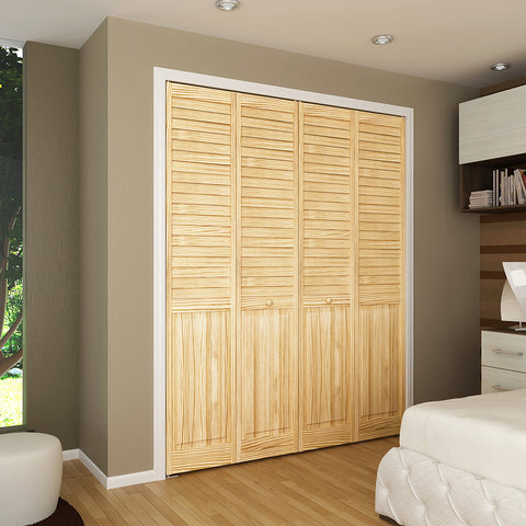 Closet Door Bi Fold Kimberly Bay Plantation Louver Panel Clear