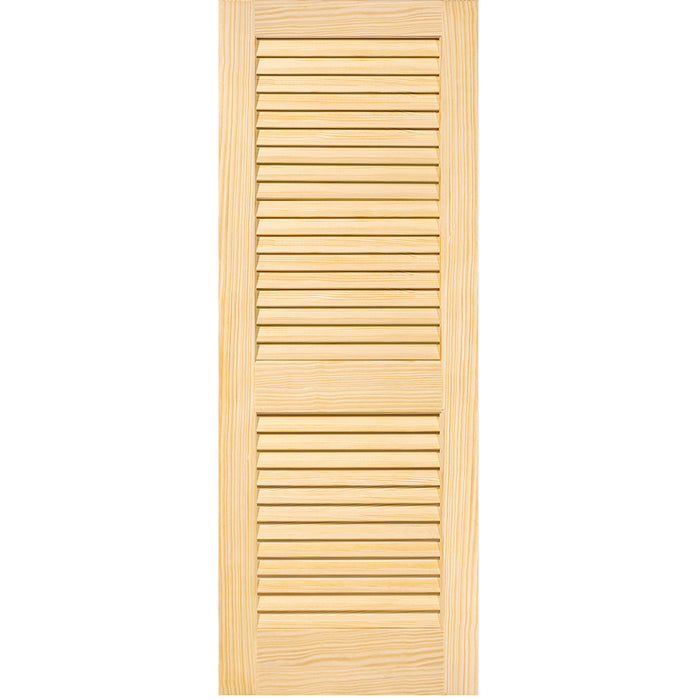 Plantation Louver Louver Solid Pine Unfinished Interior Door Slab