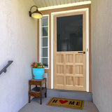 Screen Door Wood 9-Panel Stainable