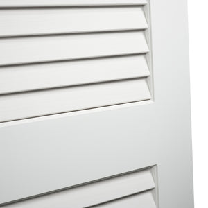 Plantation Louver Louver Solid Core White Interior Door Slab