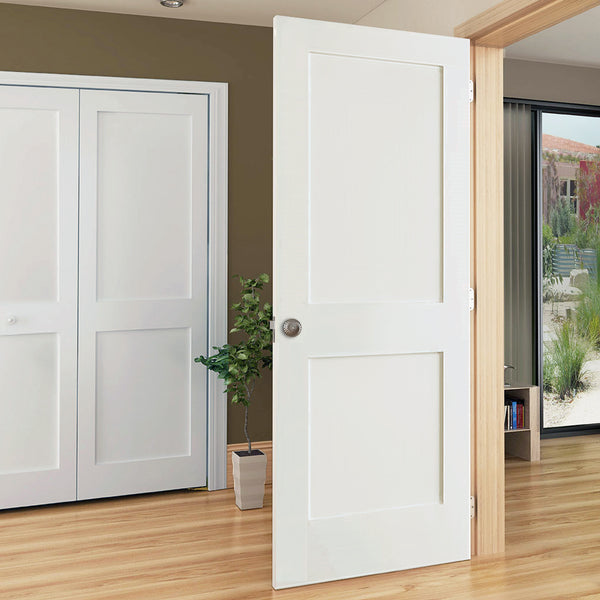 Kimberly Bay 28 In X 80 In White 1 Panel Shaker Solid: 2-Panel Door, Kimberly Bay® Interior Slab Shaker White