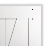 Barn Door White Z-Bar 83.5 in. x 36 in.