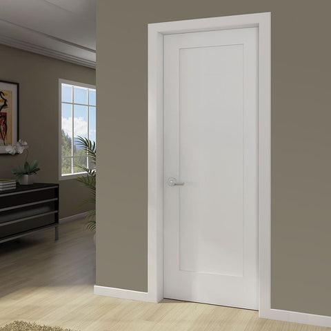 1 Panel Door Interior Slab Shaker White In Amp Out Home