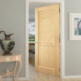 Traditional Louver Panel Solid Unfinished Pine Interior Door Slab