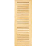 Traditional Louver Louver Solid Pine Unfinished Interior Door Slab