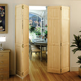 Traditional 6 Panel Clear Solid Core Unfinished Wood Bi-fold Door