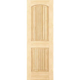 2-Panel Door, Solid Pine, Kimberly Bay® Interior Slab Colonial Arch Top with V-Grooves