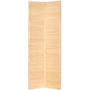 Traditional Louver Louver Solid Core  Unfinished Wood Bi-fold Door