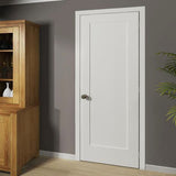 1-Panel Door, Interior Slab Shaker White