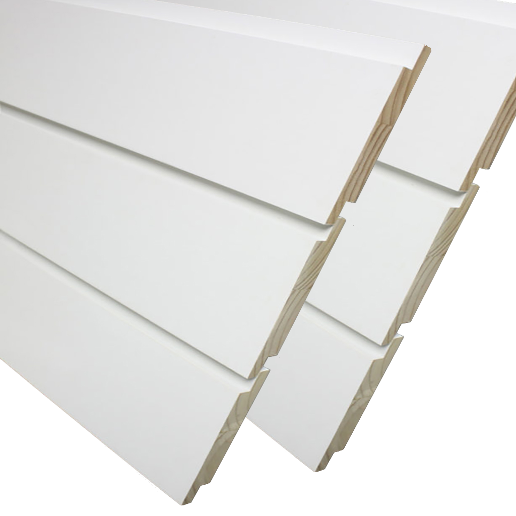 Shiplap Boards and Siding Kimberly Bay White 0 75 in  x 8 ft  - Box of Six  boards