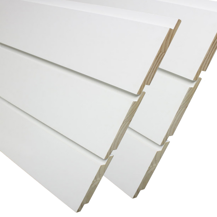 Nickel Gap White Shiplap Boards 9/16 in. x 7 ft.