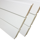 Shiplap Boards and Siding Kimberly Bay White 0.75 in. x 8 ft. - Box of Six boards