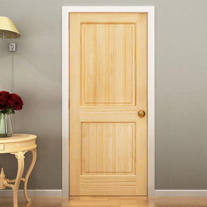 2-Panel Colonial Solid Pine Unfinished Interior Door Slab