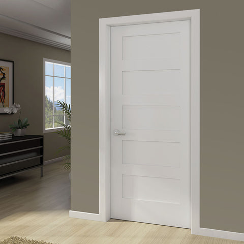 Beau 5 Panel Door, Kimberly Bay® Interior Slab Shaker White