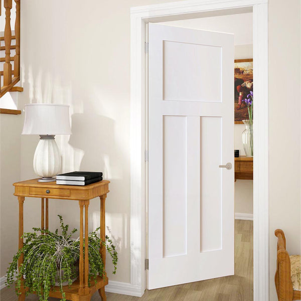 Kimberly Bay 28 In X 80 In White 1 Panel Shaker Solid: 1+2 Panel Door, Kimberly Bay® Interior Slab Shaker White