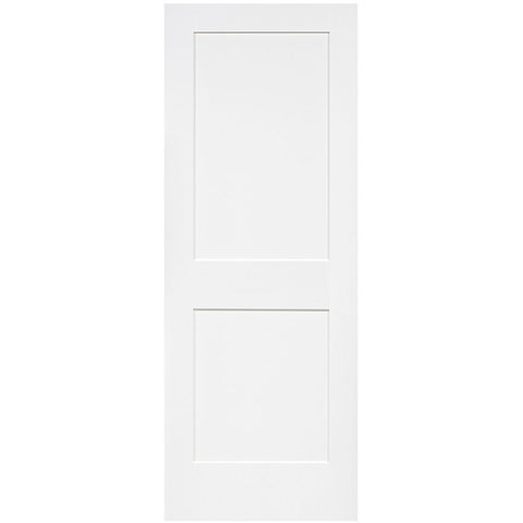 Shaker 2 Panel Solid Core White Interior Door Slab