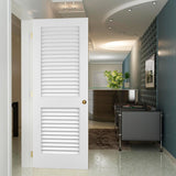 Louver-Louver Plantation Interior Door Slab Kimberly Bay® White